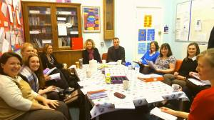 A rather full staff room at Aberlady Primary School